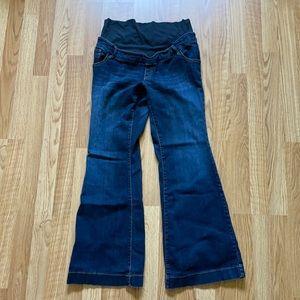 Dark wash flare maternity jeans
